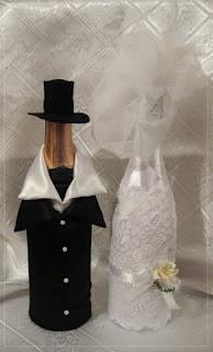Украшение бутылки на свадьбу своими руками фото