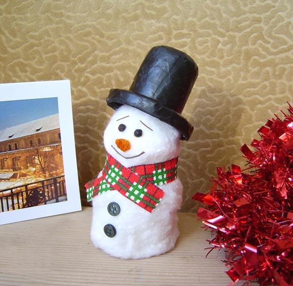 Объемные снеговики своими руками фото